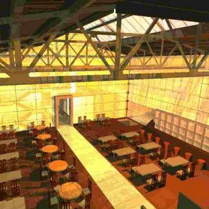 Diplom 2004 | Umnutzung einer Industriehalle zum Tagungshotel mit Gastronomie